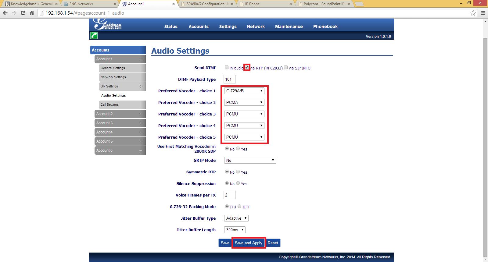 Configure - Grandstream GXP2160 - Powered by Kayako Help Desk Software